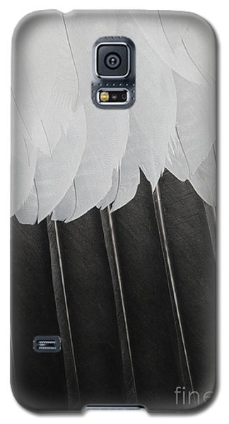 Galaxy S5 Case featuring the photograph Stormy Feathers by Judy Whitton
