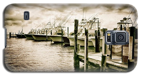 Stormy Marina On The Outer Banks Galaxy S5 Case