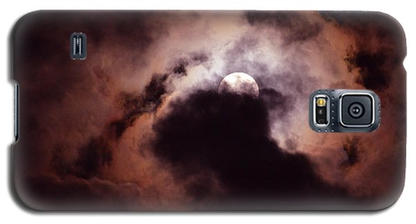 Galaxy S5 Case featuring the photograph Stormy Moon Three by Linda Cox