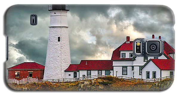 Stormy Portland Head Light Galaxy S5 Case