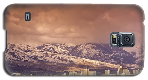 Galaxy S5 Case featuring the photograph Stormy Reno Sunrise by Janis Knight