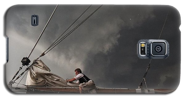 Galaxy S5 Case featuring the photograph Stormy Sails by Nikki McInnes