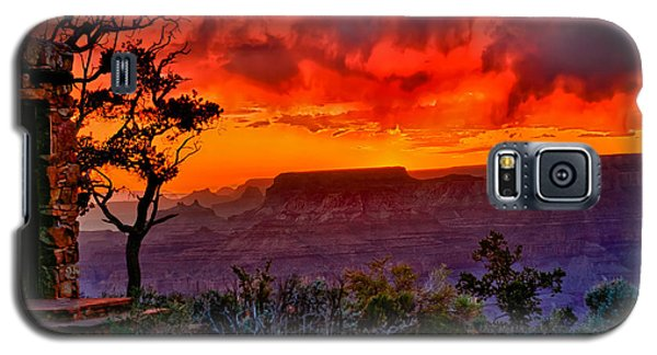 Stormy Sunset At The Watchtower Galaxy S5 Case