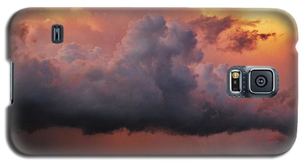 Galaxy S5 Case featuring the photograph Stormy Sunset by Ed Sweeney