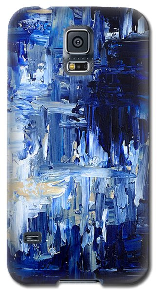 Galaxy S5 Case featuring the painting Stormy Waves by Rebecca Davis