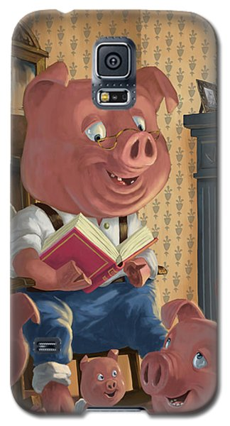 Story Telling Pig With Family Galaxy S5 Case