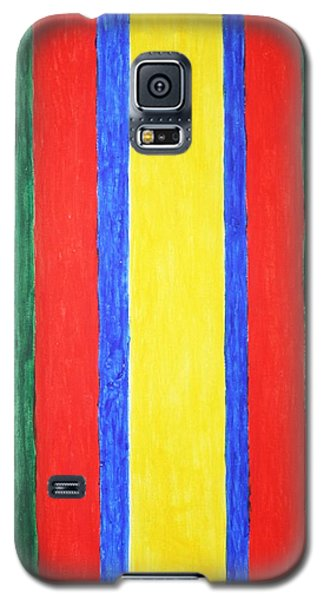 Galaxy S5 Case featuring the painting Vertical Lines by Stormm Bradshaw