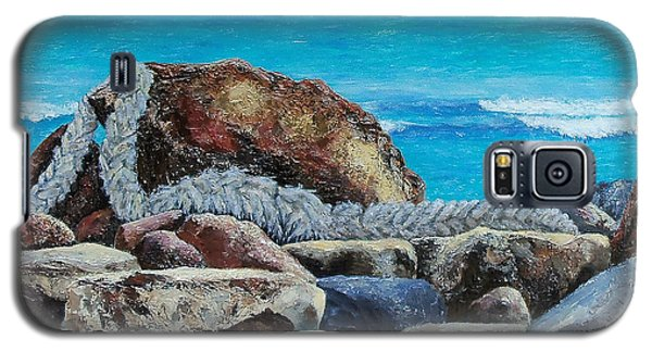 Galaxy S5 Case featuring the painting Stranded by Susan DeLain