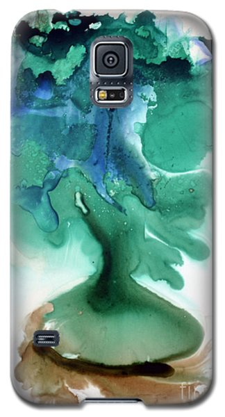 Galaxy S5 Case featuring the painting Strange Compote by Joan Hartenstein