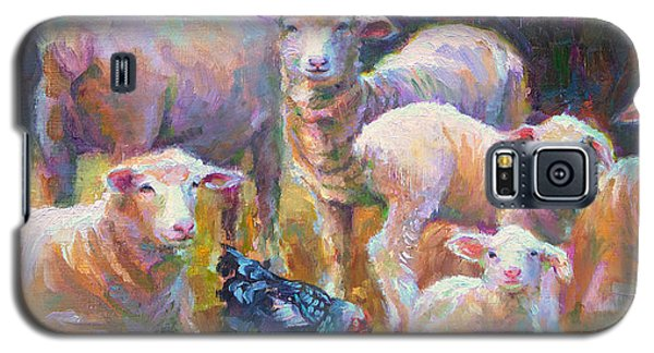Stranger At The Well - Spring Lambs Sheep And Hen Galaxy S5 Case