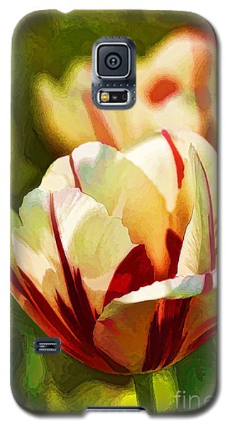 Galaxy S5 Case featuring the photograph Strawberries And Cream by Linda Blair