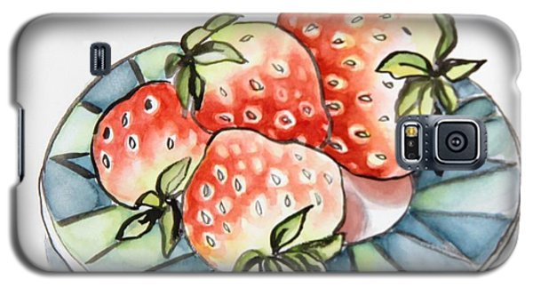 Strawberries On Plate Galaxy S5 Case
