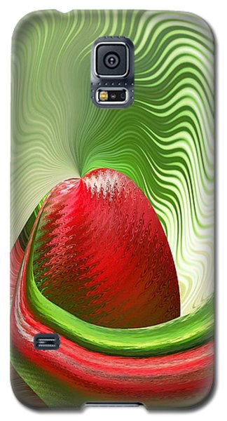 Galaxy S5 Case featuring the digital art Strawberry And Fan by rd Erickson