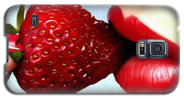 Strawberry And Lips Galaxy S5 Case