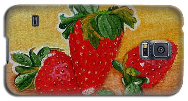 Strawberry Delight Galaxy S5 Case by Johanna Bruwer