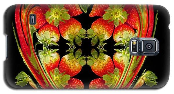 Strawberry Heart Galaxy S5 Case by David Pantuso