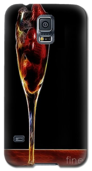 Galaxy S5 Case featuring the photograph Strawberry Sparkler by Shirley Mangini
