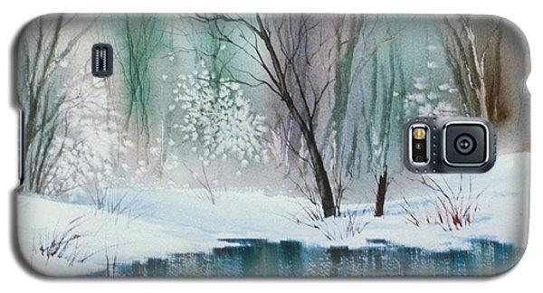 Stream Cove In Winter Galaxy S5 Case by Teresa Ascone