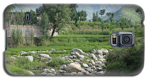 Stream Trees House And Mountains Swat Valley Pakistan Galaxy S5 Case