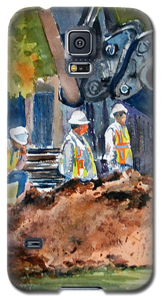 Galaxy S5 Case featuring the painting Street Improvements 2 by Ron Stephens