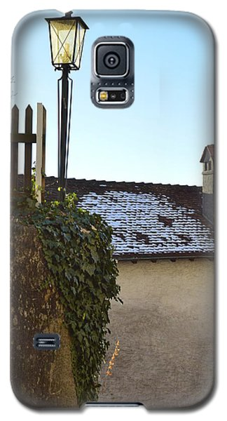 Galaxy S5 Case featuring the photograph Street Lamp At The Castle  by Felicia Tica