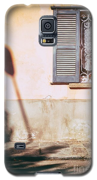 Galaxy S5 Case featuring the photograph Street Lamp Shadow And Window by Silvia Ganora