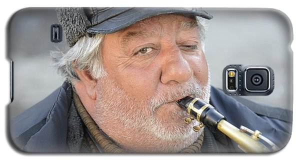 Street Musician - The Gypsy Saxophonist 1 Galaxy S5 Case by Teo SITCHET-KANDA