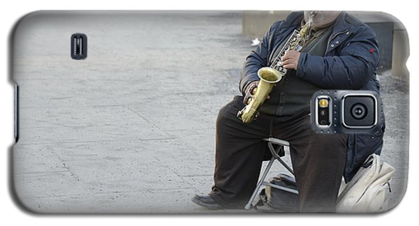 Street Musician - The Gypsy Saxophonist 3 Galaxy S5 Case by Teo SITCHET-KANDA