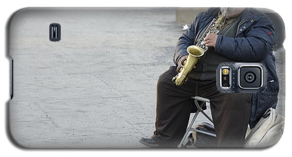 Street Musician - The Gypsy Saxophonist 3 Galaxy S5 Case