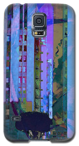 Galaxy S5 Case featuring the mixed media Street Scene La Blue by John Fish