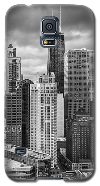 Streeterville From Above Black And White Galaxy S5 Case