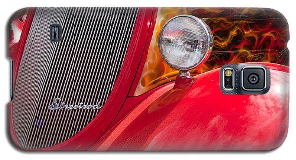 Galaxy S5 Case featuring the photograph Streetrod Red by Mick Flynn