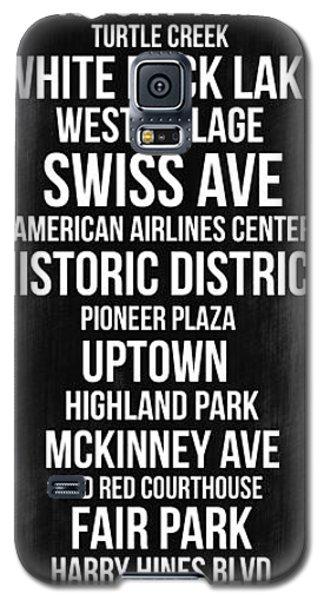 Streets Of Dallas 2 Galaxy S5 Case by Naxart Studio