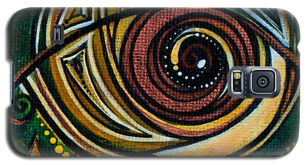 Galaxy S5 Case featuring the painting Strength Spirit Eye by Deborha Kerr