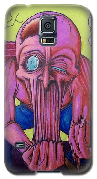 Galaxy S5 Case featuring the drawing Stretching The Truth by Michael  TMAD Finney