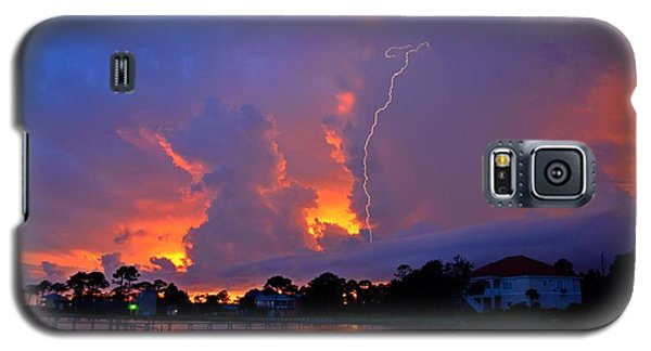 Galaxy S5 Case featuring the photograph Strike Up The Middle At Sunset by Jeff at JSJ Photography