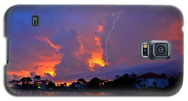 Strike Up The Middle At Sunset Galaxy S5 Case by Jeff at JSJ Photography