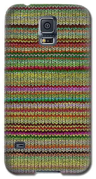 Striped Knit Fabric Galaxy S5 Case