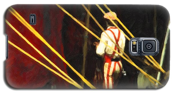 Galaxy S5 Case featuring the digital art Striped Pants by Spyder Webb