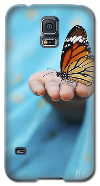 Butterfly Galaxy S5 Case - Striped Tiger Butterfly by Tim Gainey