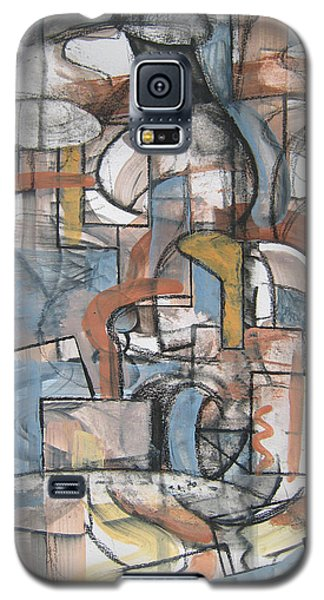 Galaxy S5 Case featuring the painting Studio Synthesis by Clyde Semler