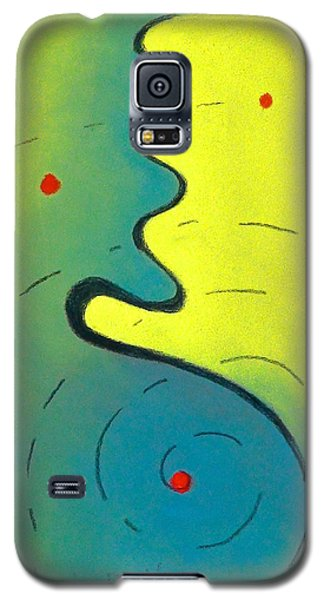 Galaxy S5 Case featuring the drawing Study In Red by Dan Redmon
