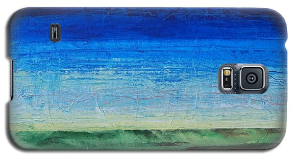 Galaxy S5 Case featuring the painting Study Of Earth And Sky by Linda Bailey