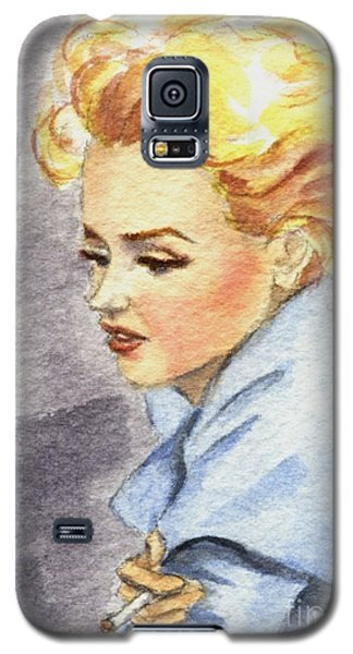 Galaxy S5 Case featuring the painting study of Marilyn Monroe by Jingfen Hwu