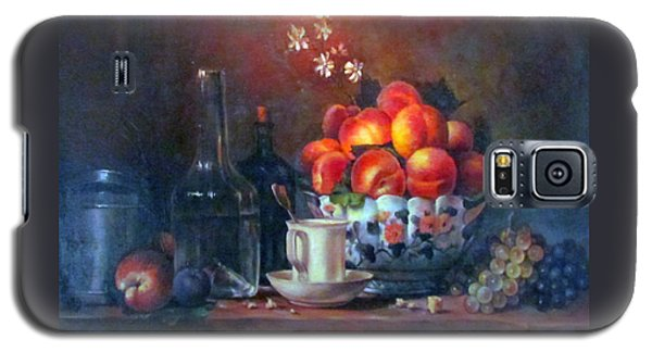 Galaxy S5 Case featuring the painting Study Of Peaches by Donna Tucker