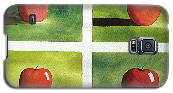 Galaxy S5 Case featuring the painting Study Red And Green by Richard Faulkner