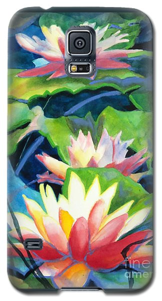 Styalized Lily Pads 3 Galaxy S5 Case by Kathy Braud