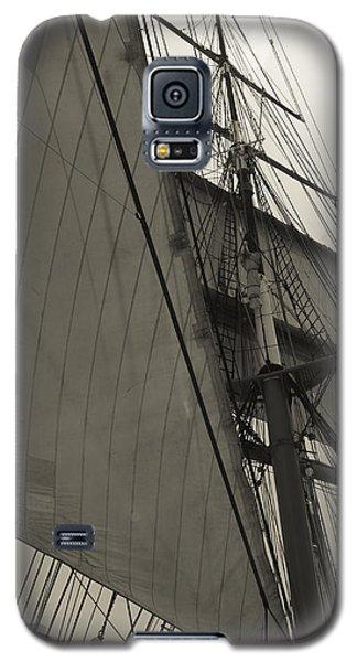 Suare And Triangle Black And White Sepia Galaxy S5 Case