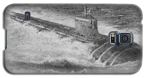 Galaxy S5 Case featuring the drawing Submarine by Jim Hubbard