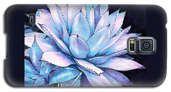 Succulent In Blue And Purple Galaxy S5 Case by Jane Schnetlage